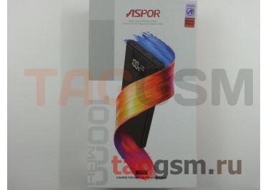 Портативное зарядное устройство (Power Bank) (Aspor A375), 2USB 3.0 / Type-C Емкость 10000mAh (серебро)