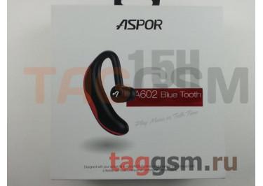 BLUETOOTH-гарнитура Aspor A602, черный / красный