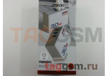 Сетевое зарядное устройство 3 выхода USB + быстрая зарядка + кабель USB - Lightning (A858Q) ASPOR