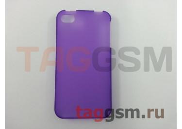 Задняя накладка Ensi для iPhone 4 / 4S 0,8mm (фиолетовая)