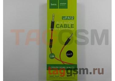 Аудио-кабель aux с силиконовым покрытием с микрофоном черный, HOCO UPA12