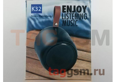 Колонка портативная (Bluetooth+AUX+MicroSD) (серая) K32