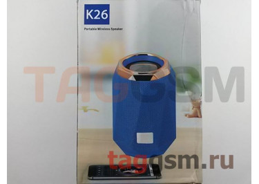 Колонка портативная (Bluetooth+AUX+MicroSD) (красная) K26