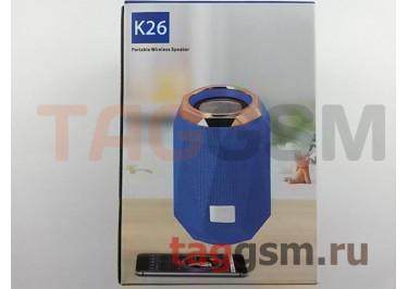 Колонка портативная (Bluetooth+AUX+MicroSD) (серая) K26