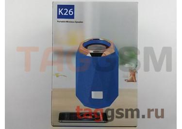 Колонка портативная (Bluetooth+AUX+MicroSD) (синяя) K26