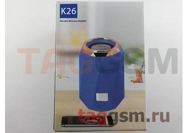Колонка портативная (Bluetooth+AUX+MicroSD) (бежевая) K26