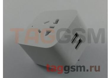 Розетка Xiaomi Mijia Smart Socket Enhanced Edition (ZNCZ03CM) (2 USB) (white) Wi-Fi