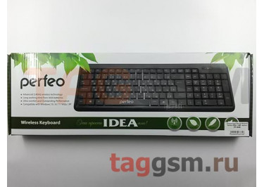 Клавиатура беспроводная Perfeo IDEA, USB, черная (PF-2506)