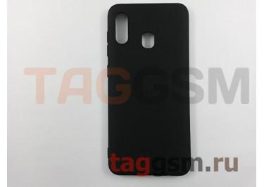 Задняя накладка для Samsung A20 / A205 Galaxy A20 (2019) (силикон, матовая, черная (Soft Matte)) NEYPO