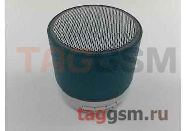 Колонка (Bluetooth, USB, microSD, белый с голубой вставкой) (A9)