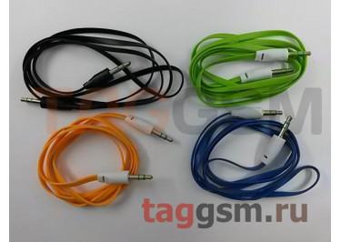 Аудио-кабель aux плоский, в ассортименте