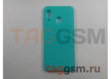 Задняя накладка для Samsung A20 / A205 Galaxy A20 (2019) (силикон, матовая, бирюзовая (Soft Matte)) NEYPO