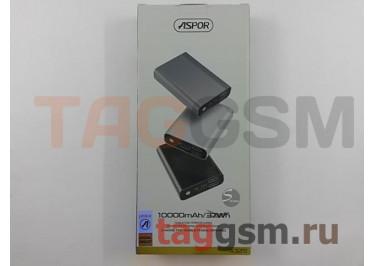 Портативное зарядное устройство (Power Bank) (Aspor A329, 2USB выхода 2400mA  /  24000mA) Емкость 10000mAh (серебро)