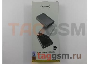 Портативное зарядное устройство (Power Bank) (Aspor A329, 2USB выхода 2400mAh  /  24000mAh) Емкость 10000mAh (черный)