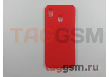Задняя накладка для Samsung A20 / A205 Galaxy A20 (2019) (силикон, матовая, красная (Soft Matte)) NEYPO