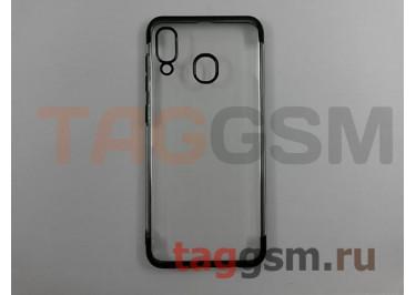 Задняя накладка для Samsung A20 / A205 Galaxy A20 (2019) (силикон, прозрачная, с серой окантовкой (Aura)) NEYPO