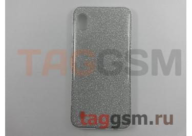 Задняя накладка для Samsung A10 / A105 Galaxy A10 (2019) (силикон, серебро (BRILLIANT)) NEYPO