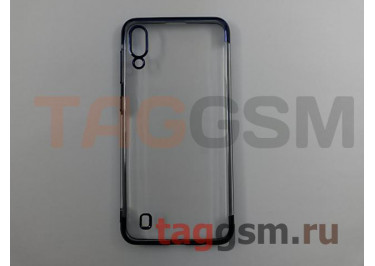 Задняя накладка для Samsung A10 / A105 Galaxy A10 (2019) (силикон, прозрачная, с синей окантовкой (Aura)) NEYPO