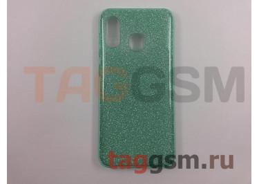 Задняя накладка для Samsung A20 / A205 Galaxy A20 (2019) (силикон, бирюзовая (BRILLIANT)) NEYPO
