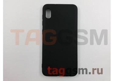 Задняя накладка для Samsung A10 / A105 Galaxy A10 (2019) (силикон, матовая, черная (Soft Matte)) NEYPO