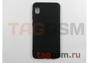Задняя накладка для Samsung A10 / A105 Galaxy A10 (2019) (силикон, матовая, черная) техпак