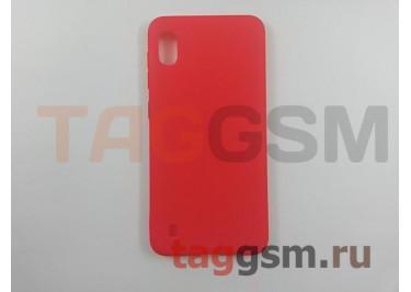 Задняя накладка для Samsung A10 / A105 Galaxy A10 (2019) (силикон, матовая, красная) техпак