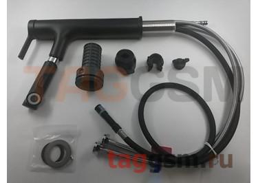 Смеситель для раковины с вытяжной лейкой Xiaomi Big white blacksmith high body mouthwash faucer (tall) (213x52x289) (DXMP004) (black)