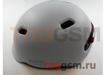 Шлем Smart4u City Light Ride Smart Flash Helmet, размер L (57-61см)  (SH50) (white)