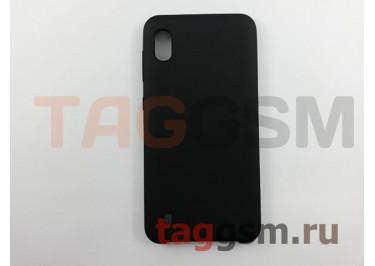 Задняя накладка для Samsung A10 / A105 Galaxy A10 (2019) (силикон, матовая, черная) Faison