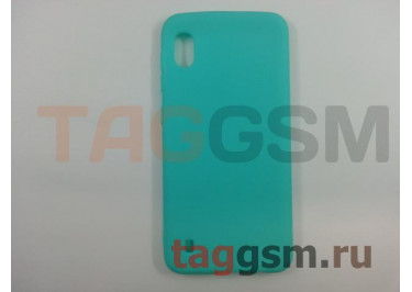 Задняя накладка для Samsung A10 / A105 Galaxy A10 (2019) (силикон, матовая, бирюзовая) FINITY
