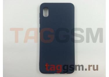 Задняя накладка для Samsung A10 / A105 Galaxy A10 (2019) (силикон, матовая, синяя) FINITY