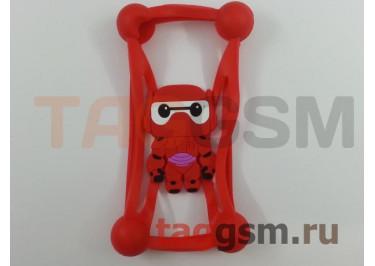 Бампер для телефона универсальный 3.5-5.5 дюймов (силикон, матовый, красный), Partner