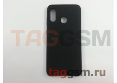 Задняя накладка для Samsung A20 / A205 Galaxy A20 (2019) (силикон, матовая, черная) Faison