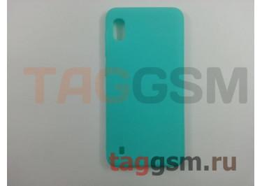 Задняя накладка для Samsung A10 / A105 Galaxy A10 (2019) (силикон, матовая, бирюзовая (Soft Matte)) NEYPO