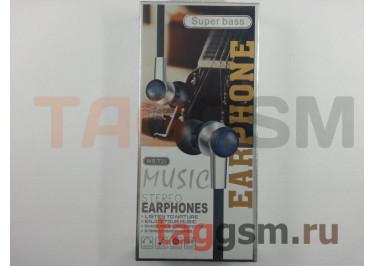 Наушники внутриканальные WS-T25 + микрофон (красный)
