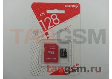 Micro SD 128Gb Smartbuy Class 10 UHS-I 80Mb / s с адаптером SD