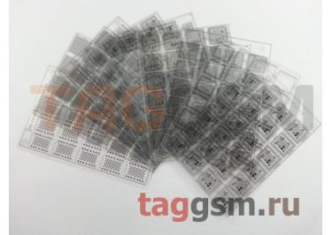Набор BGA трафаретов Mechanic в металлическом кейсе для iPhone (комплект 10шт)