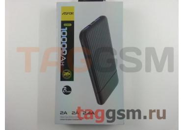 Портативное зарядное устройство (Power Bank) (Aspor A323, 2 входа micro USB / Type-C, 2USB выхода 2400mAh  /  24000mAh) Емкость 10000mAh (черный)