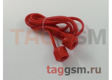 Шнурок для APPLE Airpods (силикон, красный)