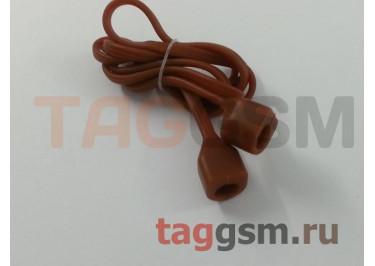 Шнурок для APPLE Airpods (силикон, коричневый)