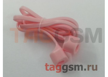 Шнурок для APPLE Airpods (силикон, розовый)
