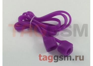Шнурок для APPLE Airpods (силикон, фиолетовый)