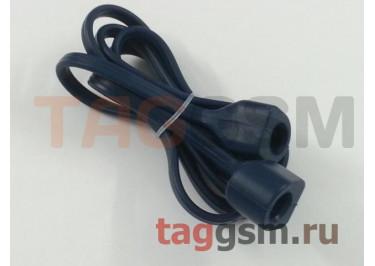 Шнурок для APPLE Airpods (силикон, синий)