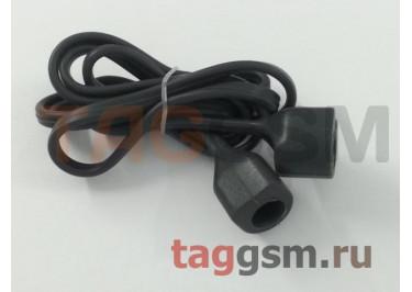Шнурок для APPLE Airpods (силикон, серый)