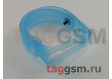 Браслет для Xiaomi Mi Band 3 / 4 (прозрачный, голубой)