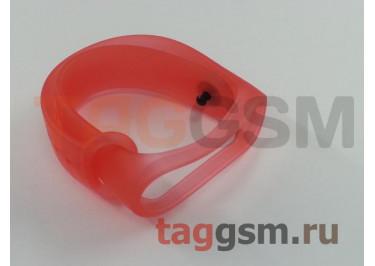 Браслет для Xiaomi Mi Band 3 / 4 (прозрачный, красный)