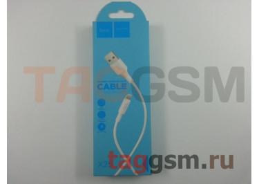 USB для iPhone 7 / iPhone 6 / iPhone 5 / iPad4 / iPad Mini / iPod Nano (в коробке) белый 1м, HOCO (X25)