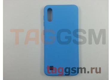 Задняя накладка для Samsung A10 / A105 Galaxy A10 (2019) (силикон, матовая, голубая) NEYPO