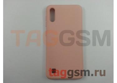 Задняя накладка для Samsung A10 / A105 Galaxy A10 (2019) (силикон, матовая, розовая) NEYPO