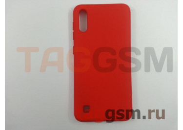 Задняя накладка для Samsung A10 / A105 Galaxy A10 (2019) (силикон, матовая, красная) NEYPO